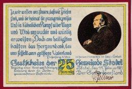 Allemagne 1 Notgeld 25 Pfenning  Stadt Stotel (RARE )  Dans L 'état Lot N °5054 - Collections