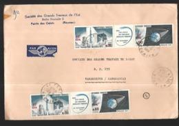 Réunion Lettre  Du 29 06 1966   De La  Socièté Des Grands TRAVAUX Pointe Des Galets  Pour Tananarive - Reunion Island (1852-1975)
