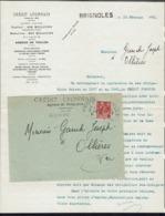 Fr - 1931 - Femme Type Fachi 50 C Perforé C.L Sur Enveloppe Du Crédit Lyonnais De Brignoles Pour Ollières - B/TB - - Perfins