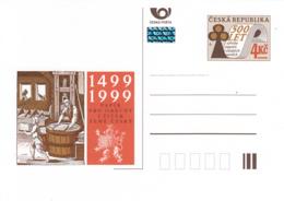Czech Republic 1999 Postal Stationery 4k 500 Years Of Paper Production - Postwaardestukken