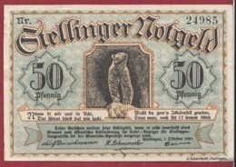 Allemagne 1 Notgeld 50 Pfenning  Stadt Stellinger (RARE)  Dans L 'état Lot N °5060 - [ 3] 1918-1933 : République De Weimar