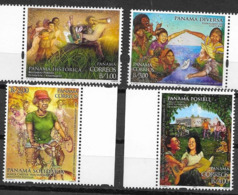 PANAMA, 2019, MNH, 500TH ANNIVERSARY OF FOUNDING OF PANAMA CITY, BICYCLES, DOGS, MUSIC, PARKS, CHILDREN, PAPER BOATS,4v - Other