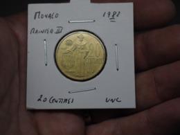 20 Centimes 1982 Rainier III Monaco - Monaco