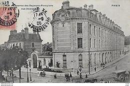 CPA (75) PARIS.  Caserne Des Sapeurs-Pompiers, Rue Haxo, Animé, Attelage. ..I 717 - France