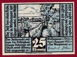 Allemagne 1 Notgeld 25 Pfenning  Stadt Weissensee/Thür  (RARE)  Dans L 'état Lot N °5069 - [ 3] 1918-1933 : République De Weimar