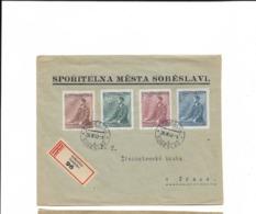 Satzbrief Aus Sobeslav 1942 - Bohême & Moravie