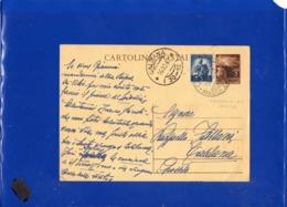 ##(DAN1911)-15-10-1947-Cartolina Postale L.3 Da Fossola (Massa-Carrara) Per Caldana-Grosseto, Frazionario (30-12) - 1946-60: Marcophilie