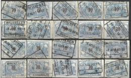_9Sp-973:restje 20zegels: TR23 ...om Verder Uit Te Zoeken. - 1895-1913