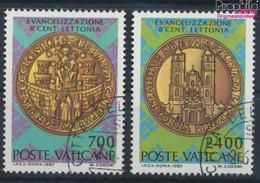 Vatikanstadt 911-912 (kompl.Ausgabe) Gestempelt 1987 Christianisierung Lettlands (9355297 - Vaticano
