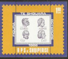 Albania 1986 Mi# Block 87 ** MNH - Famous Men: Maxim Gorky / Andre Marie Ampere / James Watt / Franz Liszt - Albania