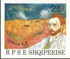 Albania 1990 Mi# Block 92 ** MNH - Vincent Van Gogh / Self-portrait - Albania