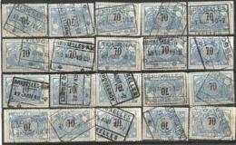 _9Sp-972:restje 20zegels: TR23 ...om Verder Uit Te Zoeken. - 1895-1913