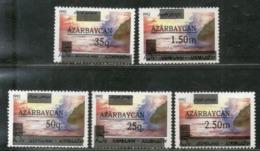 Azerbaijan 1992 Caspian Sea Surcharged Sc 351-55 MNH # 738 - Azerbaïjan