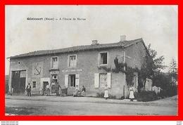 CPA (55) GENICOURT.  A L'Ancre De Marine, Animé, Commerce Tabac, Pub Chocolat Meunier...S027 - Autres Communes