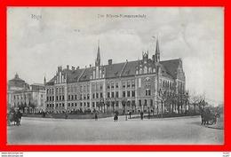 CPA RIGA (Lettonie)   Die Börsen-Kommerzschule, Animé, Attelage...CO1474 - Lettonie