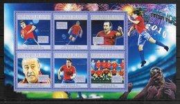 GUINEE  Feuillet   N°  5032/37  * *  ( Cote 15e ) Cup 2010 Football  Soccer  Fussball  Espagne - Fußball-Weltmeisterschaft