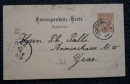 Postkarte(SLov.) 1889, LICHTENWALD - GRAZ - 1850-1918 Empire