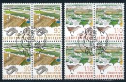 Zumstein 1132-1133 / Michel 1190-1191 Viererblockserie Mit ET-Zentrumstempel - Used Stamps