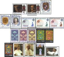 Vatikanstadt 718-735 (complete Issue) Volume 1978 Completeett Unmounted Mint / Never Hinged 1978 Paul, Pius, Sede Vacant - Vatican
