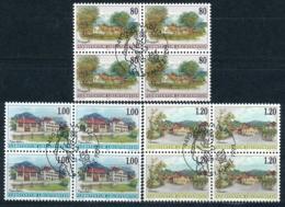 Zumstein 1134-1136 / Michel 1192-1194 Viererblockserie Mit ET-Zentrumstempel - Used Stamps