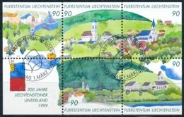 Zumstein 1137-1141 / Michel BL16 Block Mit ET-Zentrumstempel - Liechtenstein