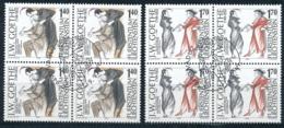 Zumstein 1157-1158 / Michel 1215-1216 Viererblockserie Mit ET-Zentrumstempel - Used Stamps