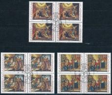 Zumstein 1159-1161 / Michel 1217-1219 Viererblockserie Mit ET-Zentrumstempel - Used Stamps