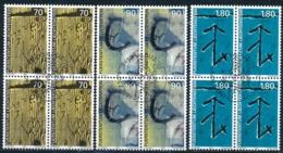Zumstein 1162-1164 / Michel 1220-1222 Viererblockserie Mit ET-Zentrumstempel - Used Stamps