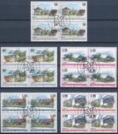 Zumstein 1172-1176 / Michel 1229-1233 Viererblockserie Mit ET-Zentrumstempel - Used Stamps