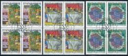 Zumstein 1178-1180 / Michel 1235-1237 Viererblockserie Mit ET-Zentrumstempel - Used Stamps