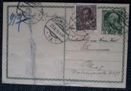 Kaiserreich 1915, Postkarte Rohrpost, MiF, WIEN - 1850-1918 Empire