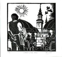 Gravure Getiteld Zomer In De Stad (Aalst) - Livres, BD, Revues