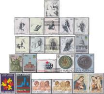 San Marino 1105-1126 (complete Issue) Volume 1976 Completeett Unmounted Mint / Never Hinged 1976 The Virtues, U.S., Olym - San Marino
