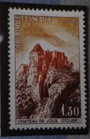 Petit Calendrier De Poche 1988 Timbre Poste Château De Joux Doubs Pressing Saumur - Calendars