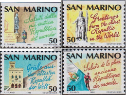 San Marino 1447-1450 (complete Issue) Unmounted Mint / Never Hinged 1990 Tourism - San Marino