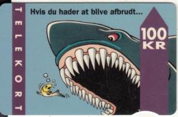 DENMARK - Shark, CN : 2201 043036, Tirage 30000, 01/94, Used - Denemarken