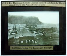 DER HAFEN DER KOLONIE UMANAK IN NORD-GRÖNLAND - Diapositiva Su Vetro