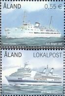Finland - Aland 353-354 (complete Issue) Unmounted Mint / Never Hinged 2012 Fährschiffe - Ålandinseln