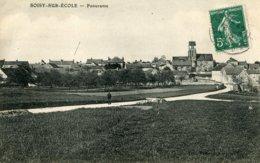 91 .20280 .soisy Sur Ecole .panorama .l Eglise . - France