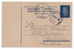1951 YUGOSLAVIA, CROATIA, TPO 212 KOTORIBA- ZAGREB, TITO, STATIONERY CARD, USED - Enteros Postales