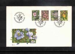 Denmark 1990 Flowers FDC - Orchideen