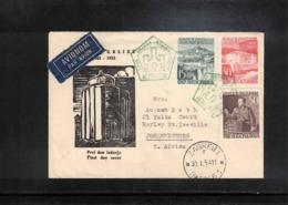 Yugoslavia 1954 Interesting Airmail Letter To South Africa - 1945-1992 Repubblica Socialista Federale Di Jugoslavia