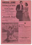 Program - Portugal - Royal Cine - 6 Janeiro 1938???? - Mademoiselle Mozart - Honra Japoneza - Programma's