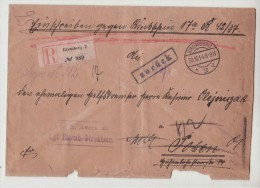 POLAND / GERMAN ANNEXATION 1914  R- LETTER  SENT FROM  BYDGOSZCZ  TO  POZNAN - ....-1919 Provisional Government