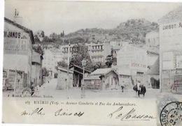CPA De HYERES - Avenue Gambetta Et Rue Des Ambassadeurs - Hyeres