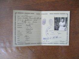 CARTE D'IDENTITE VAILLY SUR AISNE DELIVREE LE 25 SEPT. 1940 MAIRIE DE BRAIZE (ALLIER) - Karten