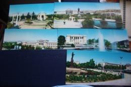 TAJIKISTAN  Dushanbe  Capital.  11 Postcards Lot  - Old USSR Postcard  - 1960s - Tagikistan