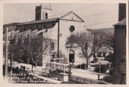 Carte Photo / Sollies Pont (83) L'Eglise Et La Maison De Repos Des Vieux Travailleurs    Rare Ed  Maison Du Tourisme - Sollies Pont