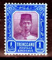 TRENGGANU  1929  $ 1 VALUE WMK.SCRIPT CA   MH - Trengganu