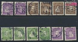 Dänemark 131-142 (kompl.Ausg.) Gestempelt 1924 Dänische Post (9350211 - 1913-47 (Christian X)